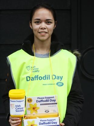 A Daffodil Day volunteer last year.
