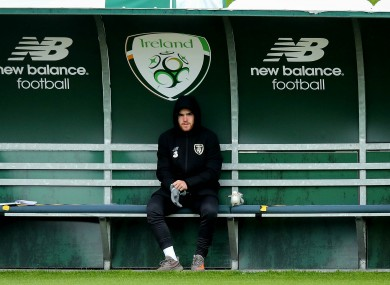 Aaron Connolly pictured at Irish training earlier this week.