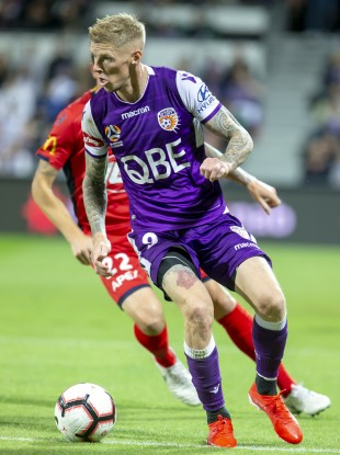 Andy Keogh with Perth Glory in May 2019.