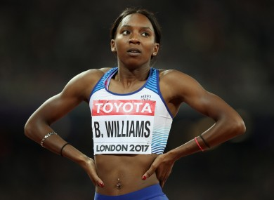 Team GB athlete Bianca Williams.