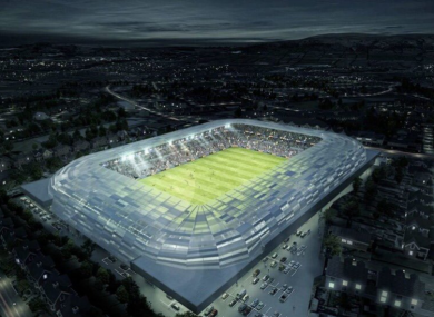 An artist's impression of the redeveloped stadium.