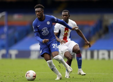Callum Hudson-Odoi pictured during today's game.