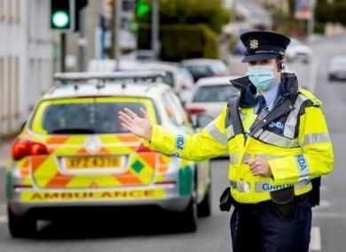 Gardaí performing checks along the border in Donegal.