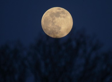 A full moon was last visible from Ireland on the date of Halloween in 1974. Photo: PA Images.