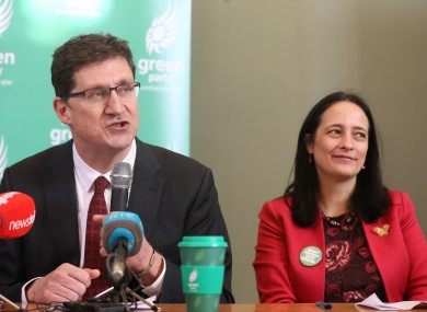 Green Party Leader Eamon Ryan and Deputy Leader Catherine Martin in February 2020 ahead of the general election.