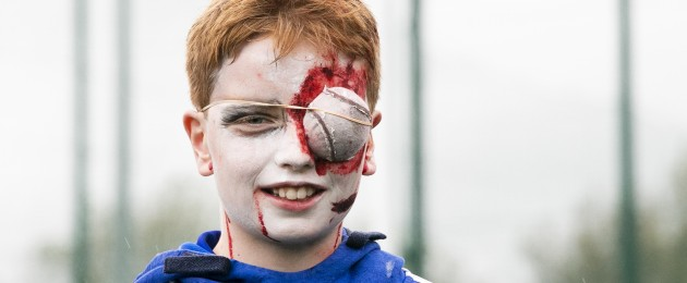 Christian Shorthall (12) was one of many Na Fianna GAA players who attended training last night in their Halloween costume.