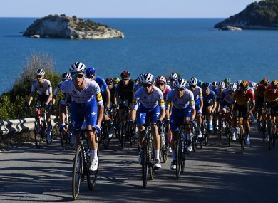 A view of Saturday's eighth stage of the Giro d'Italia.