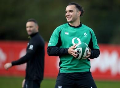 James Lowe in Ireland training.