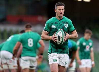 Johnny Sexton is Ireland's chief playmaker.