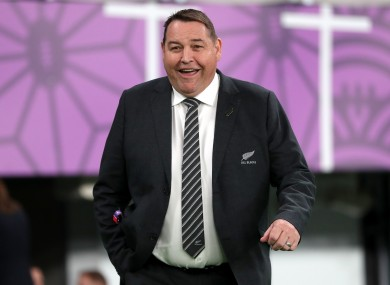 Steve Hansen at the 2019 World Cup.