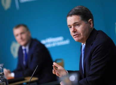 Ministers Paschal Donohoe and Michael McGrath said money is set aside in case measures such as the wage subsidy and PUP need to be extended next year.