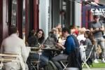 File photo. People outside restaurants in Dublin city centre.