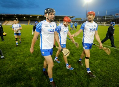 Jubilant Waterford players after the game.