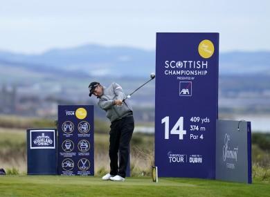 Pádraig Harrington in action at the Scottish Championship.