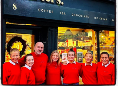 Phil Carter with his staff at Carters Chocolate Cafe.