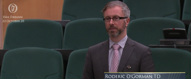 Minister Roderic O'Gorman speaking in the Dáil last night.