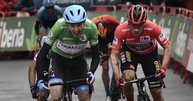 Vuelta victory for Dan Martin as tearful Irishman claims stage three