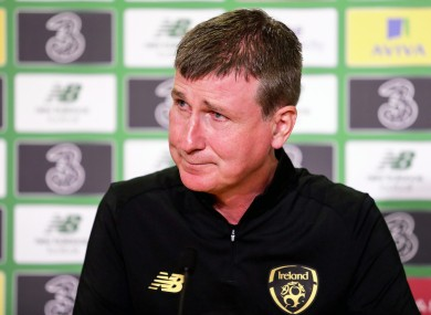 Stephen Kenny speaks to the press.