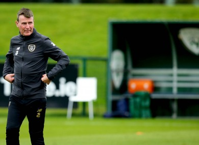 Stephen Kenny at Irish training.
