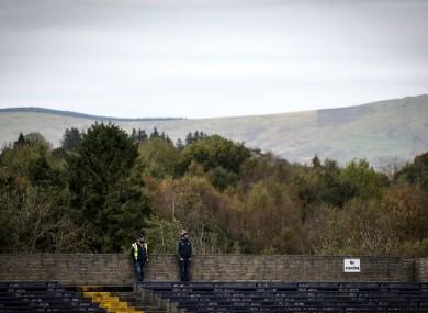 Stewards watch Wicklow v Antrim