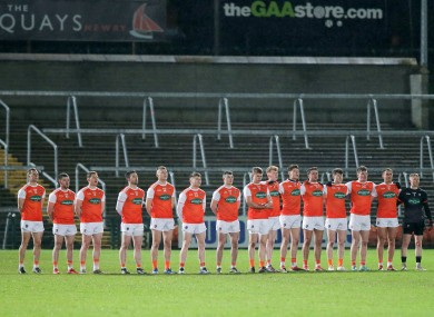 The Armagh team ahead of playing Kildare earlier this year.