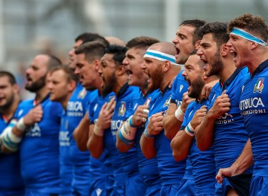 There will be five changes to the Italian team for Saturday's test against Ireland.
