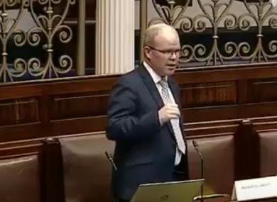 Peadar Tóibín in the Dáil