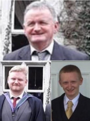 Tadg O'Sullivan and his sons Mark and Diarmuid were found dead on Monday.