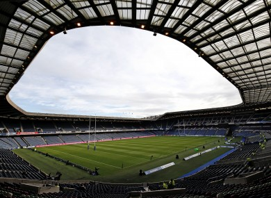 Murrayfield was set to host the game tomorrow week.