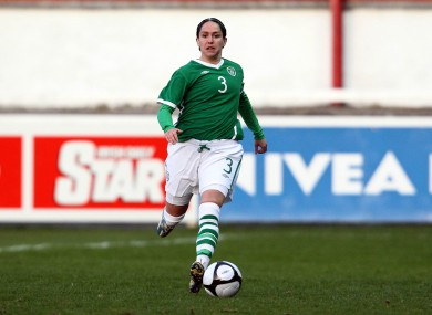 Ciara McCormack pictured playing for Ireland in 2010.