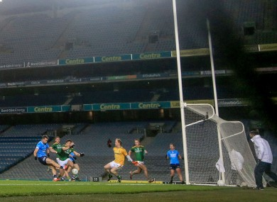 Dublin's Dean Rock scores his goal.