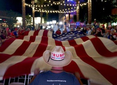 A supporter of President Donald Trump in Arizona.