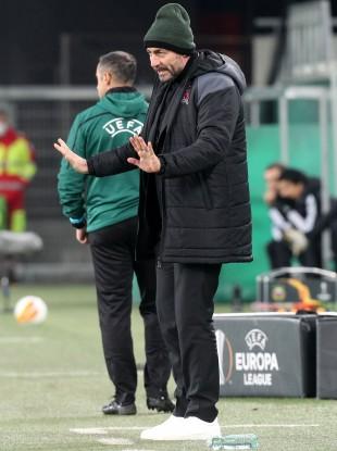 Filippo Giovagnoli pictured during tonight's match.