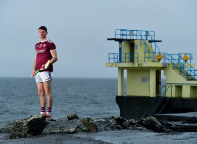 Cathal Mannion at Blackrock beach in Salthill, Galway for the GAA Hurling All Ireland Senior Championship Series National Launch.