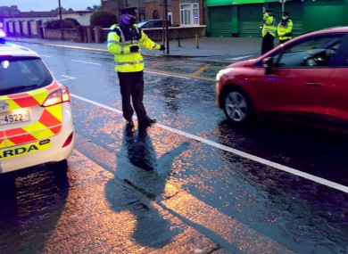 Gardaí from Crumlin and Sundrive Road garda stations carrying out checkpoints in Dublin earlier this month.