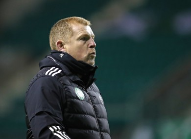 Neil Lennon pictured during today's game.