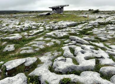 The Poulnabrone-Dolmen in The Burren