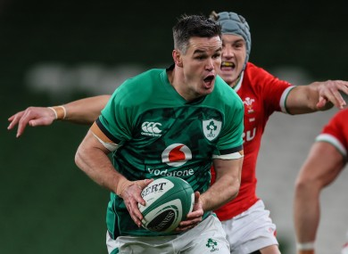 Sexton is set to return for Ireland this weekend against Scotland.