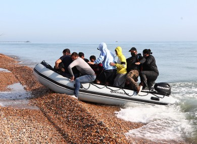 A group of people thought to be migrants arrive in Kent (file photo)