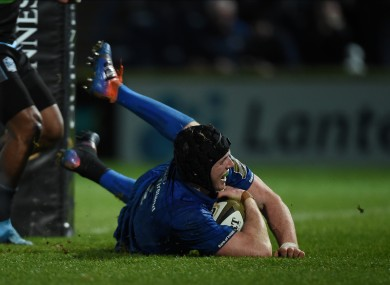 Ryan Baird is back in Leinster's starting XV.