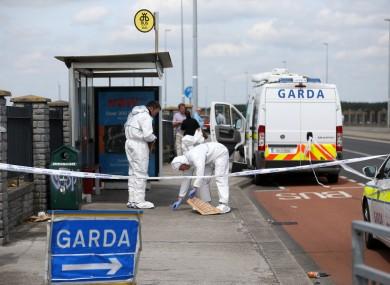 Gardaí at the scene in Tallaght in June 2018.