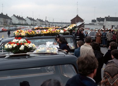 Funerals held for the victims of the tragedy back in February 1981.