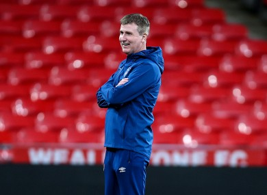 Stephen Kenny pictured at Wembley ahead of Ireland's recent friendly against England.