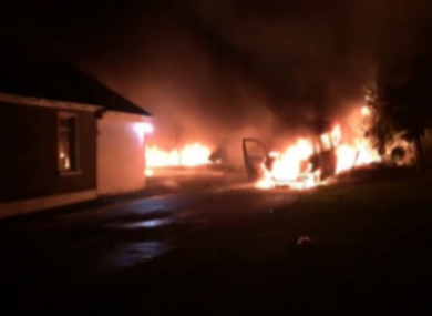 Fire at the property in 2018.