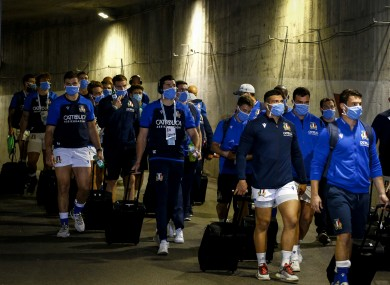 The Italy rugby team [file photo].
