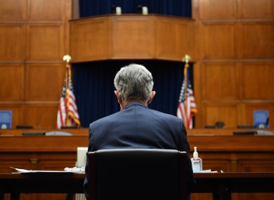 Federal Reserve chairman Jay Powell on Capitol Hill last momth