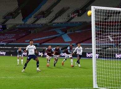 Aston Villa's Ollie Watkins misses from the penalty spot.