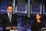 Leo Varadkar and Mary Lou McDonald in RTÉ ahead of the 2020 general election.