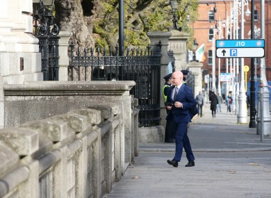 Health Minister Stephen Donnelly arrives for Cabinet.