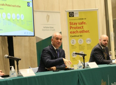 File photo. Dr Holohan and Professor Nolan at last night's briefing.